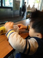 朝、スタバにて (2012/11/30)