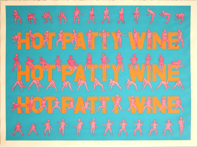 Hot Patty Wine, acrylic on paper, 73cm x 53cm
