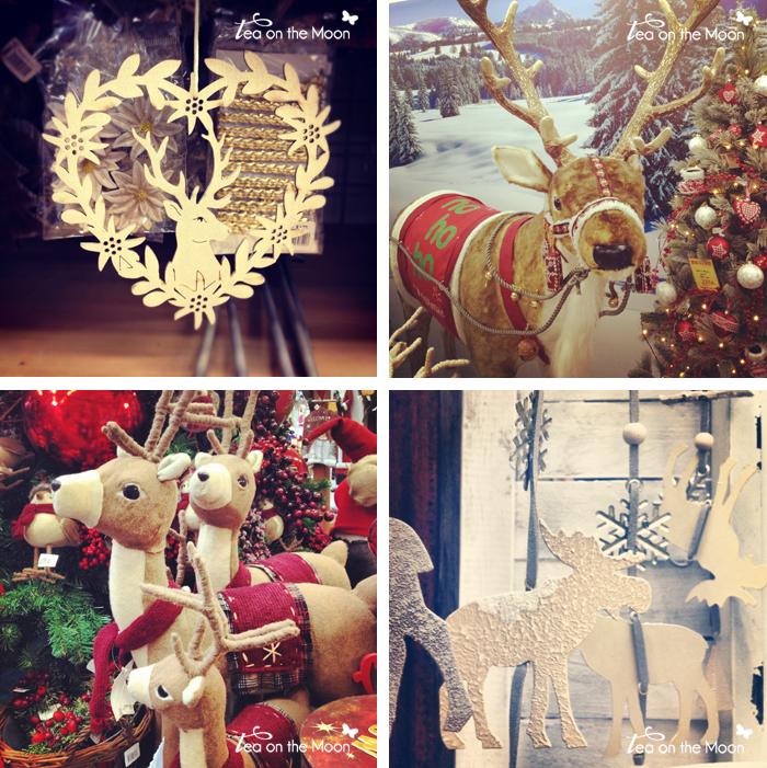 renos ciervos navidad