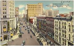 Monroe Avenue, looking east from Campau Square, Grand Rapids, Michigan