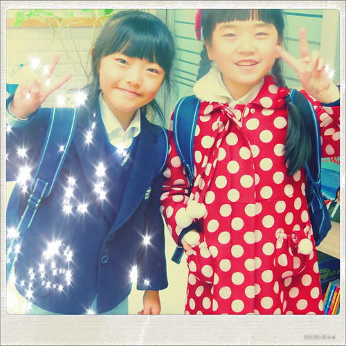 Cute Korean Second Graders