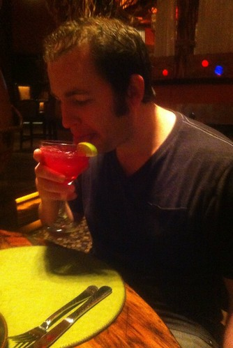 travis drinks girly cocktails.