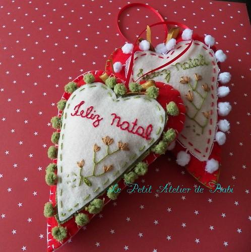 Coração de feltro - por http://lepetitatelierdebabi.wordpress.com/