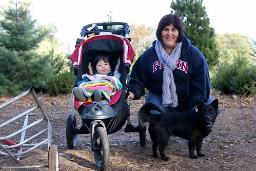 family outing to tree farm