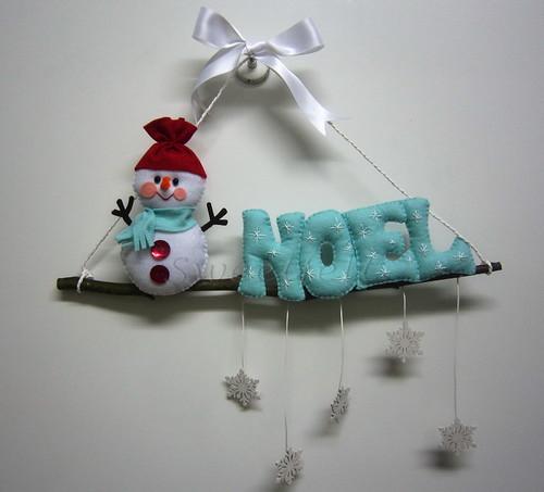 ♥♥♥ Guirlanda Snowman... by sweetfelt \ ideias em feltro