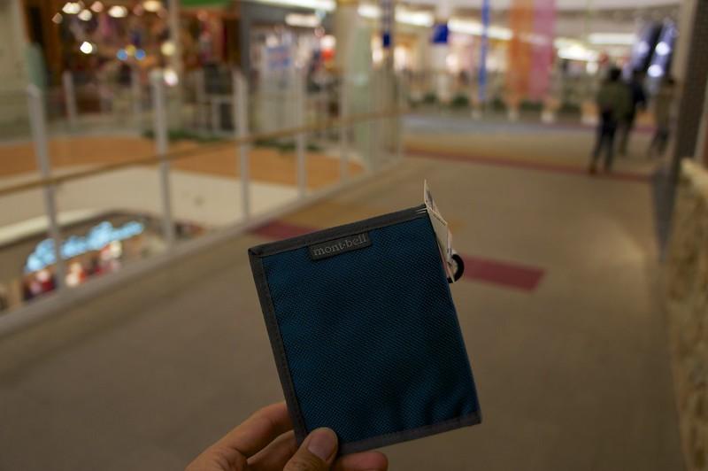 mont-bellで700円の財布を買った