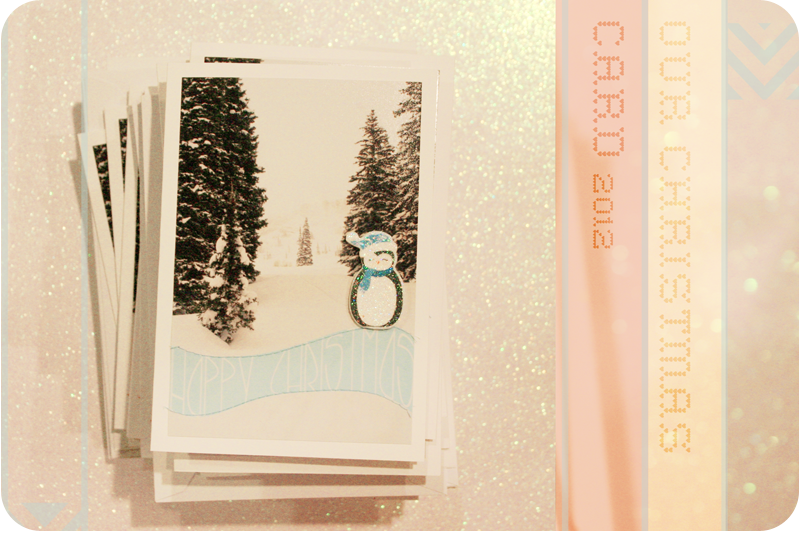 {our diy christmas cards}