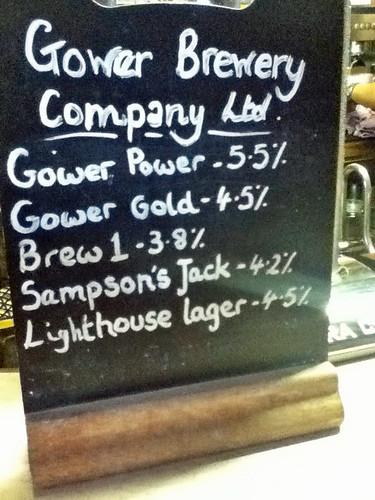 Gower Brewery beers