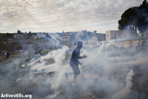 Protest against the occupation, Nabi Saleh, West Bank, 7.12.2012