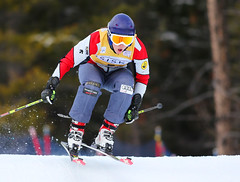 Kelsey Serwa at the inaugural Nakiska ski cross World Cup.
