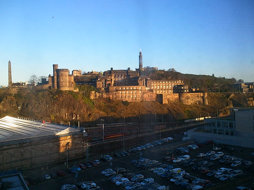 View to Calton Hill from our room at Jurys Inn Edinburgh