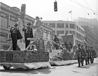 City Light float in Seafair parade, 1954