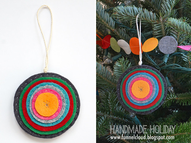 handmade holiday | felt circles ornament