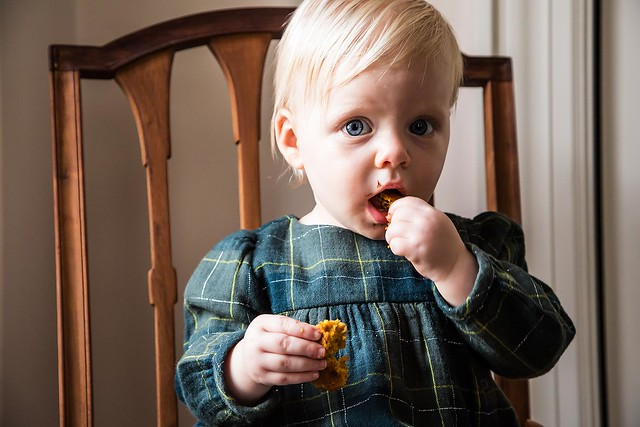 Clara Eating Pumpkin Cookies