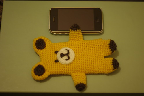 amigurumi #84 M iPhone cosy yellow bear