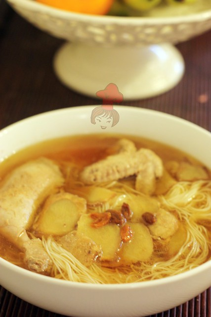 Taiwanese chicken wine soup with sesame oil 12