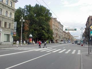 On Staro-Nevsky Prospekt looking towards the Lavra