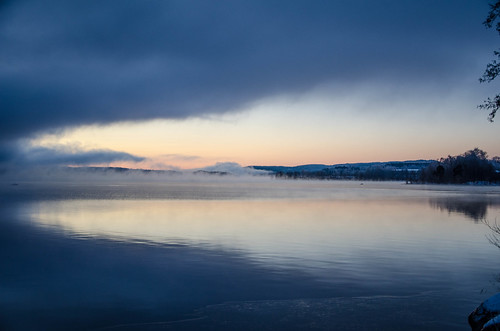 vinter soluppgång dimma årstider egenskaper
