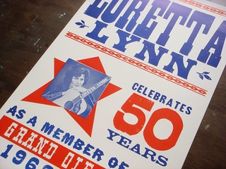 Loretta Lynn letterpress poster