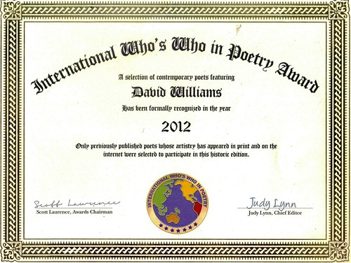 INTERNATIONAL WHOS WHO IN POETRY by Tadaram Alasadro Maradas