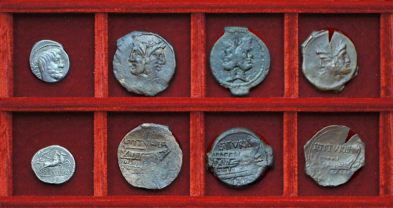 RRC 344 L.TITVRI SABIN Tituria denarius, bronzes, Ahala collection, coins of the Roman Republic