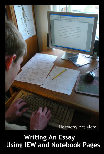 Writing an Essay Using IEW and Notebook Page