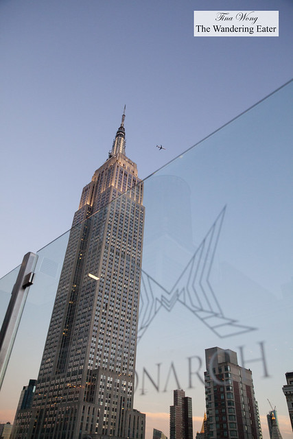 View of the Empire State Building from my seat