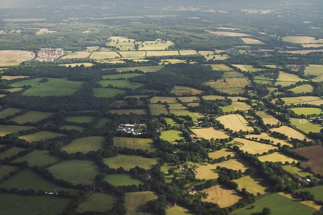 Landforms aerial, England (2016)