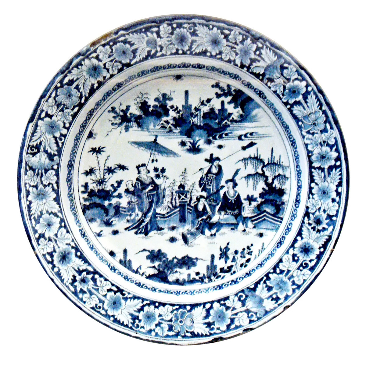 Faience with Chinese scenes. Nevers Manufactory. c. 1680