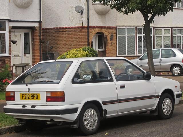 1989 Hyundai Pony 1.3 GL.