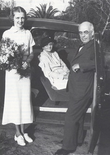 President James A. Blaisdell with his daughter Barbara '27 and his wife Florence Carrier Blaisdell. Photo year unknown but likely in the mid- to late 1920s.