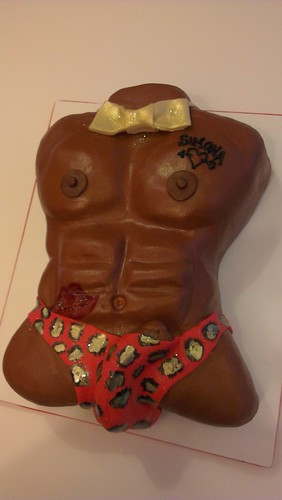 Sexy Torso Cake RED by CAKE Amsterdam - Cakes by ZOBOT