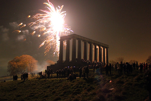 Calton Hill Fireworks, Edinburgh, November 5th by sjwmobile