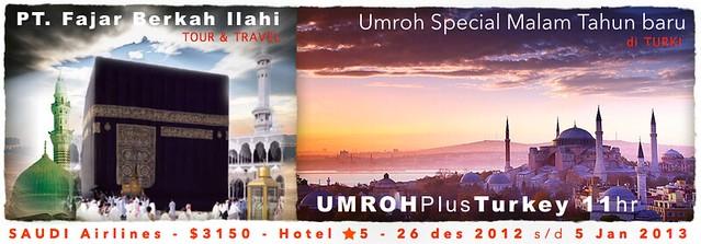 Umroh Plus Turki Malam Tahun Baru 2013, biro perjalanan haji dan umrah, umrah travel jakarta, umrah tahun 2013,umroh plus