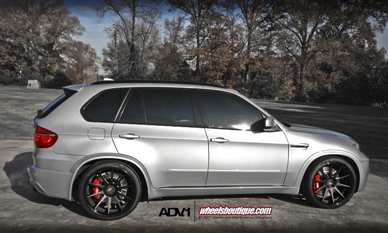 Bmw x5m on adv10 deep concave marinated and seasoned in win with a side of brembo wheels