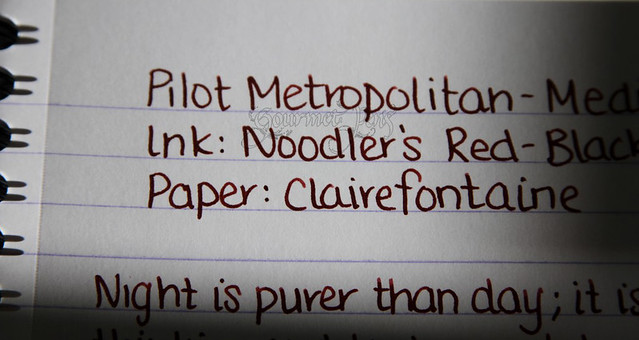 Pilot Metropolitan Close Up Writing