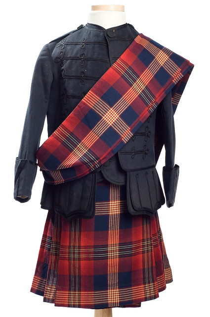 Red and black tartan outfit 1880s | Flickr - Photo Sharing!