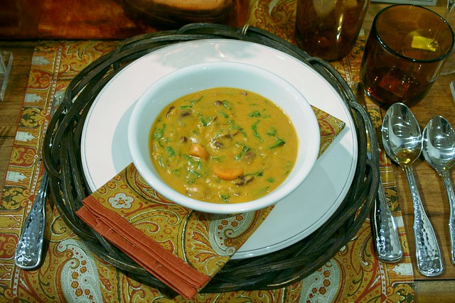 Curry Peanut Butter Pumpkin Soup