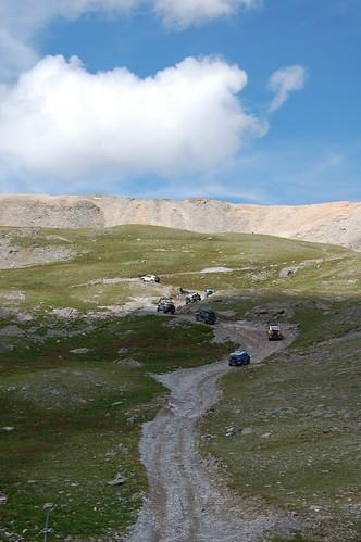 Climbing to the summit on Imogene