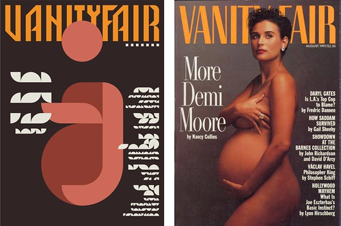 Side by Side - Iconic Magazine Cover #5 - More on Moore, Vanity Fair 1991 by omarrr