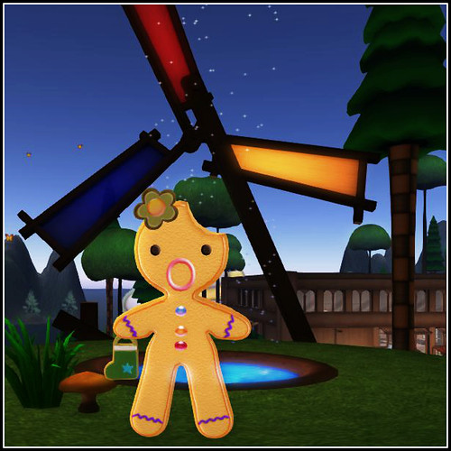 Gingerbread avatar flower+ candy bag accessories