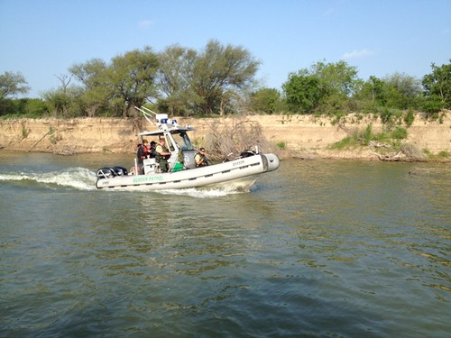 <p>Border Patrol &quot;riverines&quot; cruise one of the most active borders in the world - and one of the most dangerous rivers.</p>