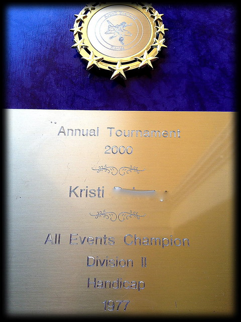 All Events Bowling Champion in 2000
