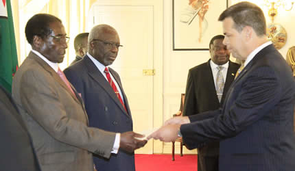 US ambassador David Bruce Wharton to Zimbabwe. Relations between the two states are at there lowest point. by Pan-African News Wire File Photos