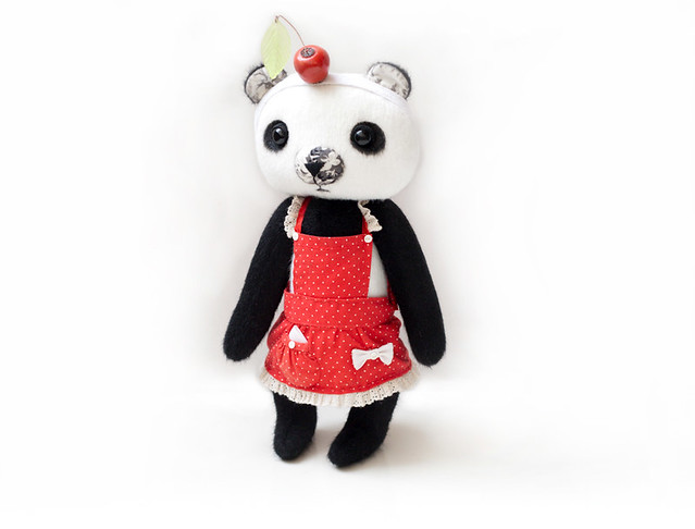 Panda girl with cherry