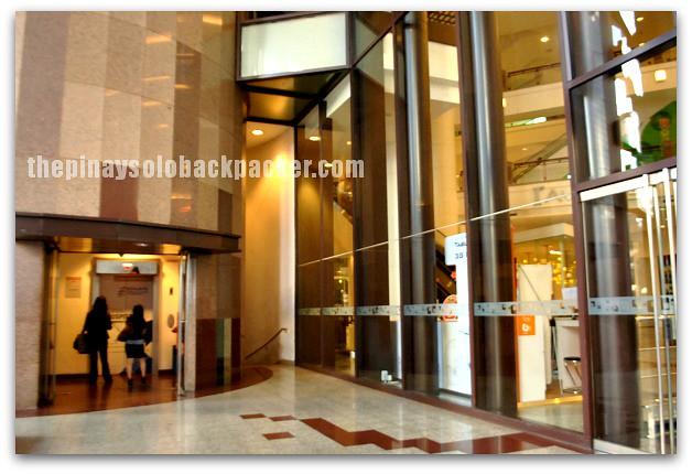 elevator outside Berjaya Times Square