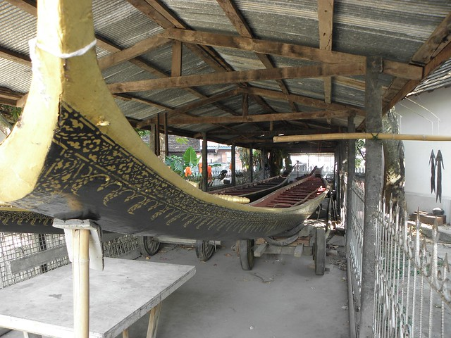A boat workshop in Luang Prabang, northern Laos
