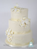 W9135 3 tier ivory orchid wedding cake toronto