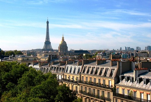 Paris, looking toward Les Invalides & the Eiffel Tower (c2012 FK Benfield)