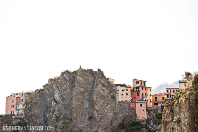 CinqueTerre: View of Corniglia along Sentiero Azzurro Blue Trail | What to Do in Cinque Terre Italy